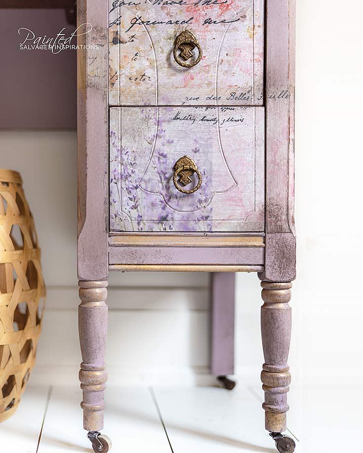 Vintage Dresser Makeover w Paint Stain Transfers