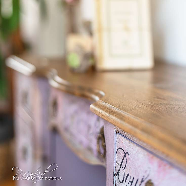 Walnut Stained Desk Top Vintage Desk Makeover IG