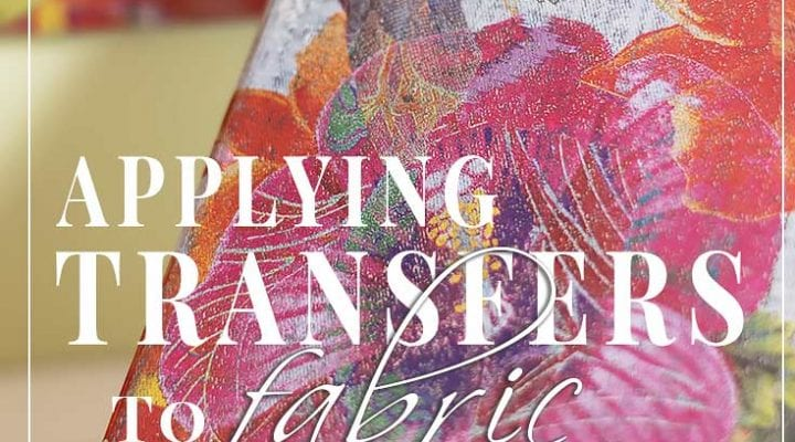 Prima Transfers… On Fabric!