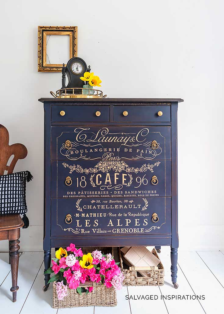 Gold French Transfer Painted Dresser