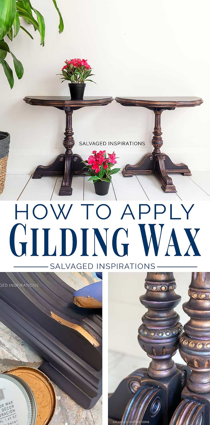How To Apply Decor Gilding Wax - Salvaged Inspirations