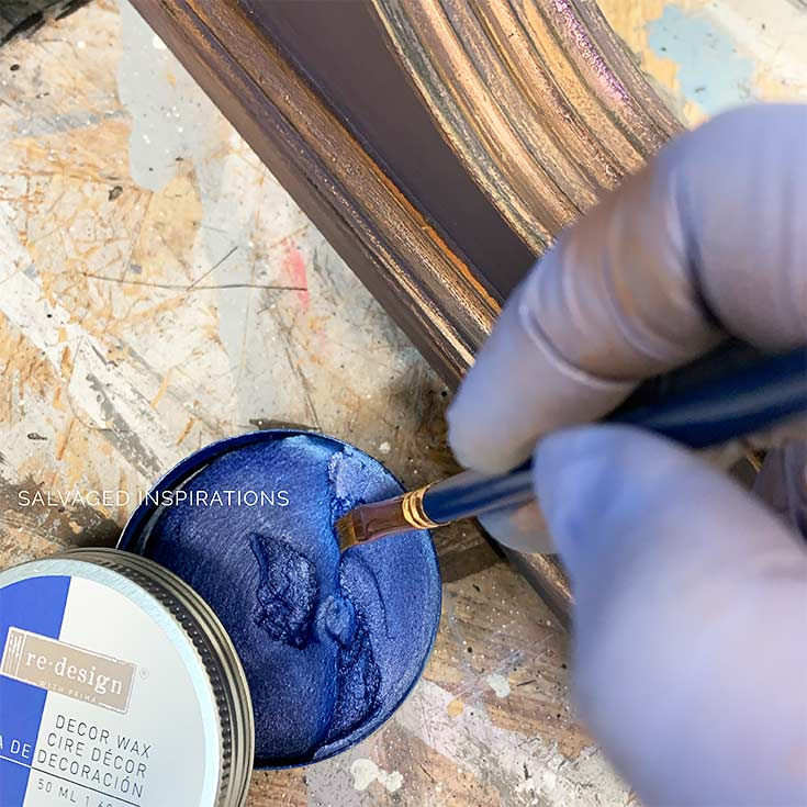 Painting with Gilding Decor Wax On Furniture