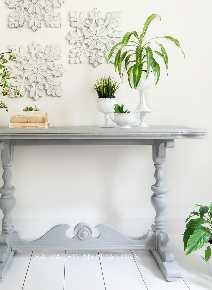 Salvaged Console Table - How To Glaze Furniture