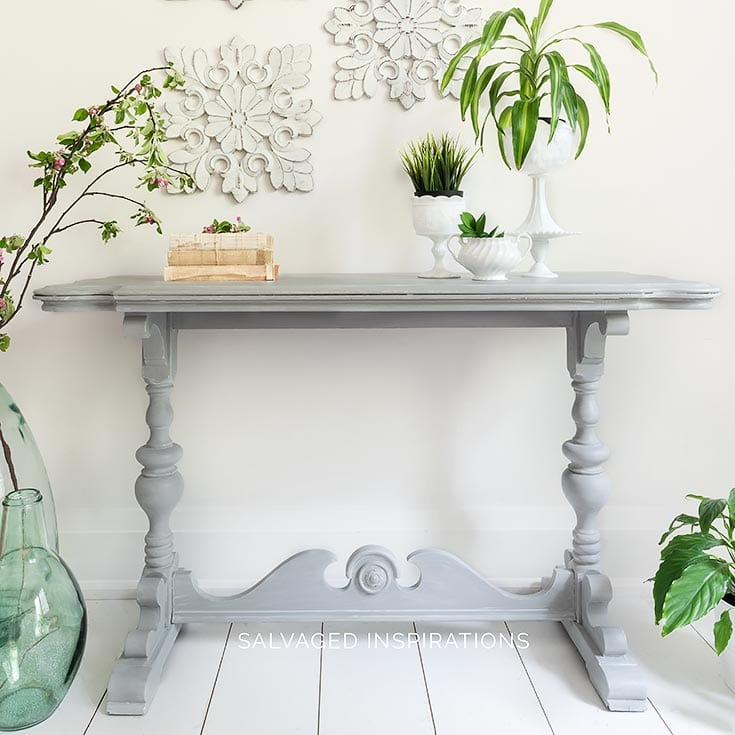 Salvaged Console Table Painted and Glazed IG