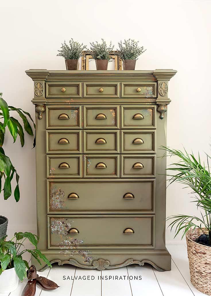 Spanish Moss Dresser Makeover