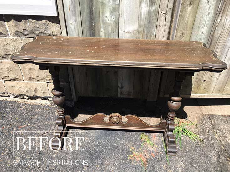 Vintage Console Table Pic - Before