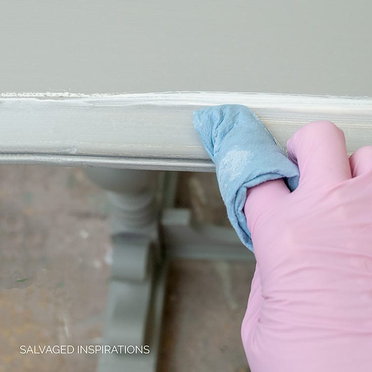 Wiping Off White Glaze From Painted Console Table