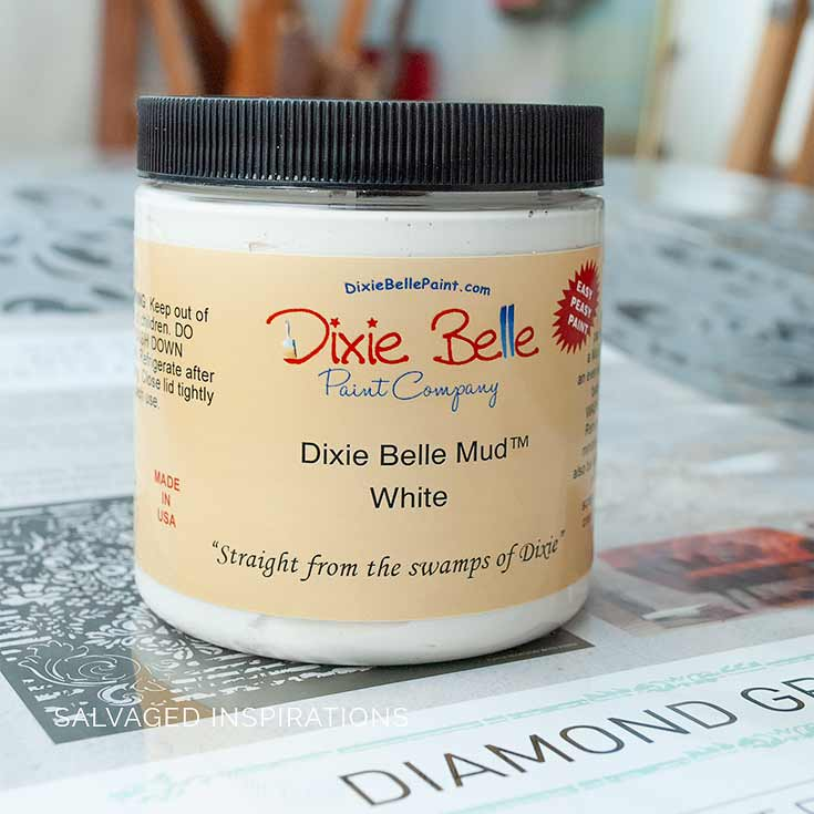 Dixie Belle White Mud For Embossed Stencilling