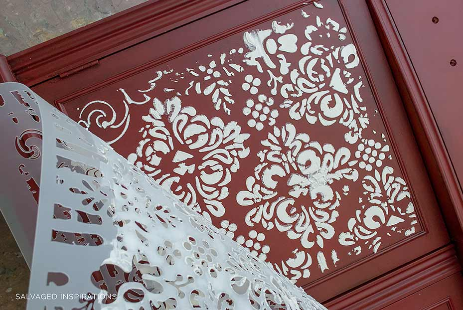 How To Create an Embossed Stencil on Painted Furniture