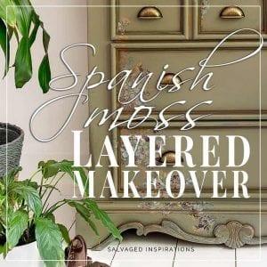 Spanish Moss Layered Dresser Makeover SI