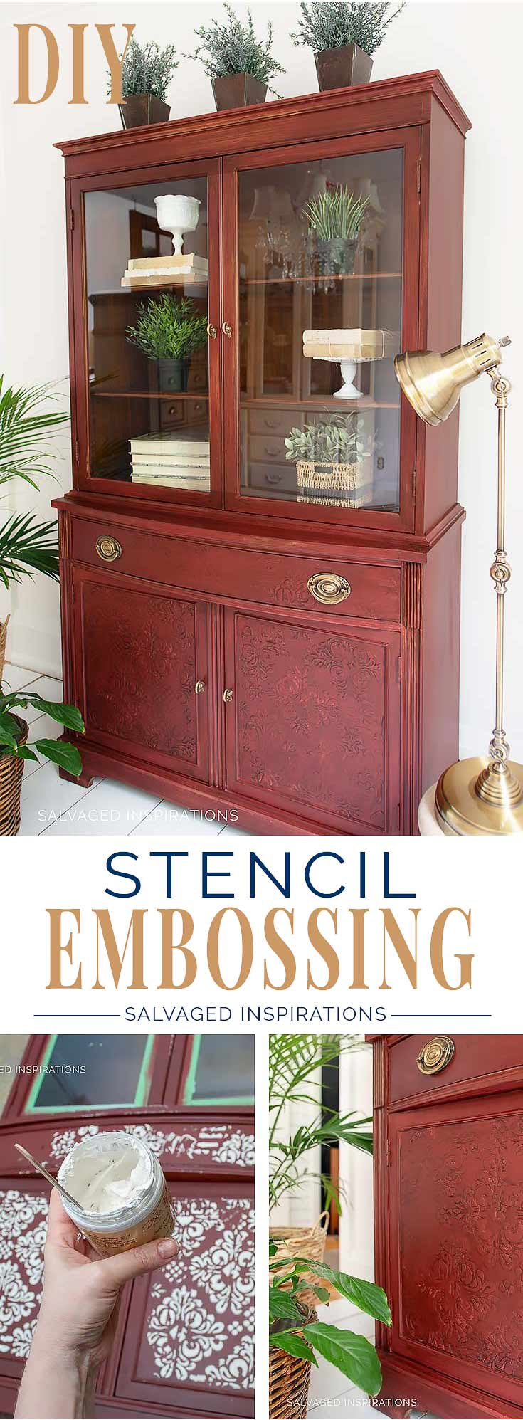 Stencil Embossing - Salvaged Inspirations