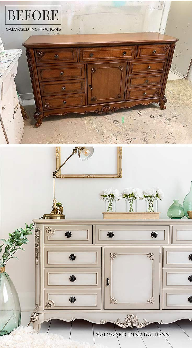 Blending Paint on Furniture - Before and After
