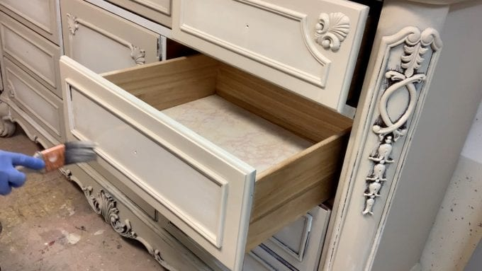 Blending Paint on Furniture Drawers