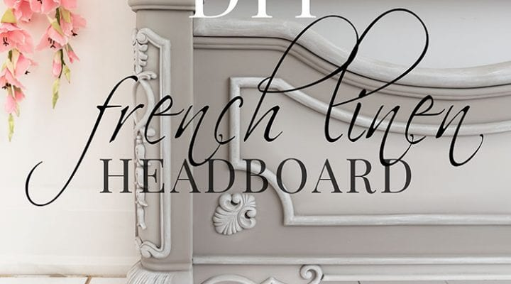 French Linen Painted Headboard