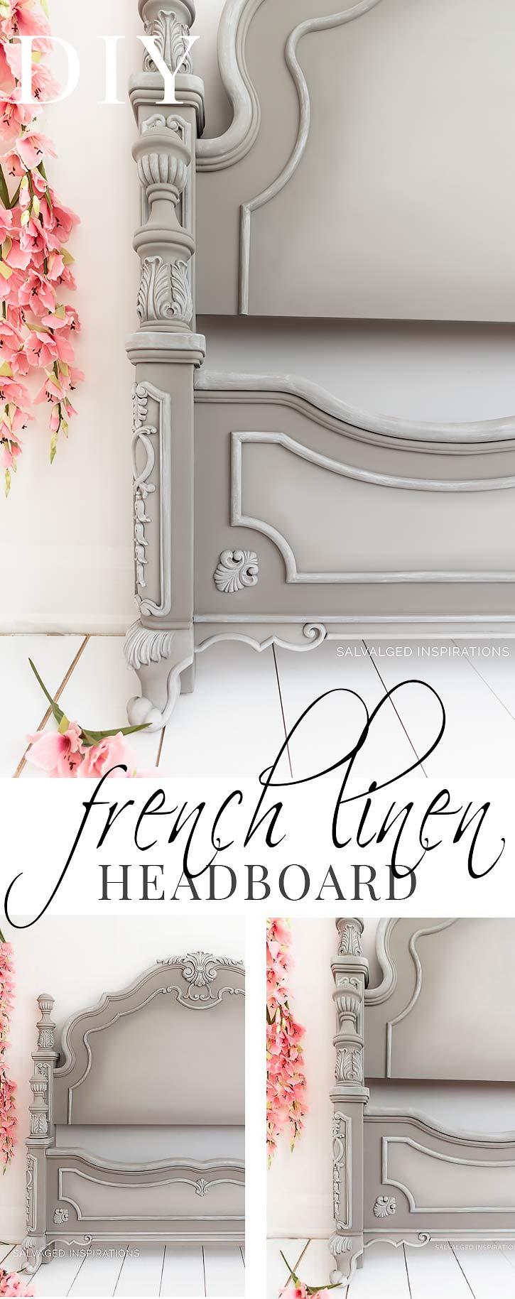 DIY French Linen Headboard Pin