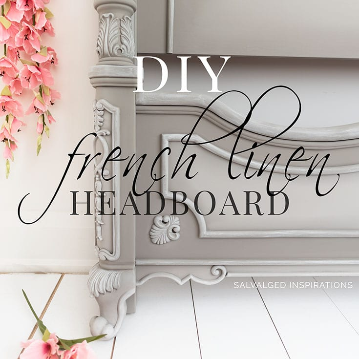 DIY French Linen Headboard