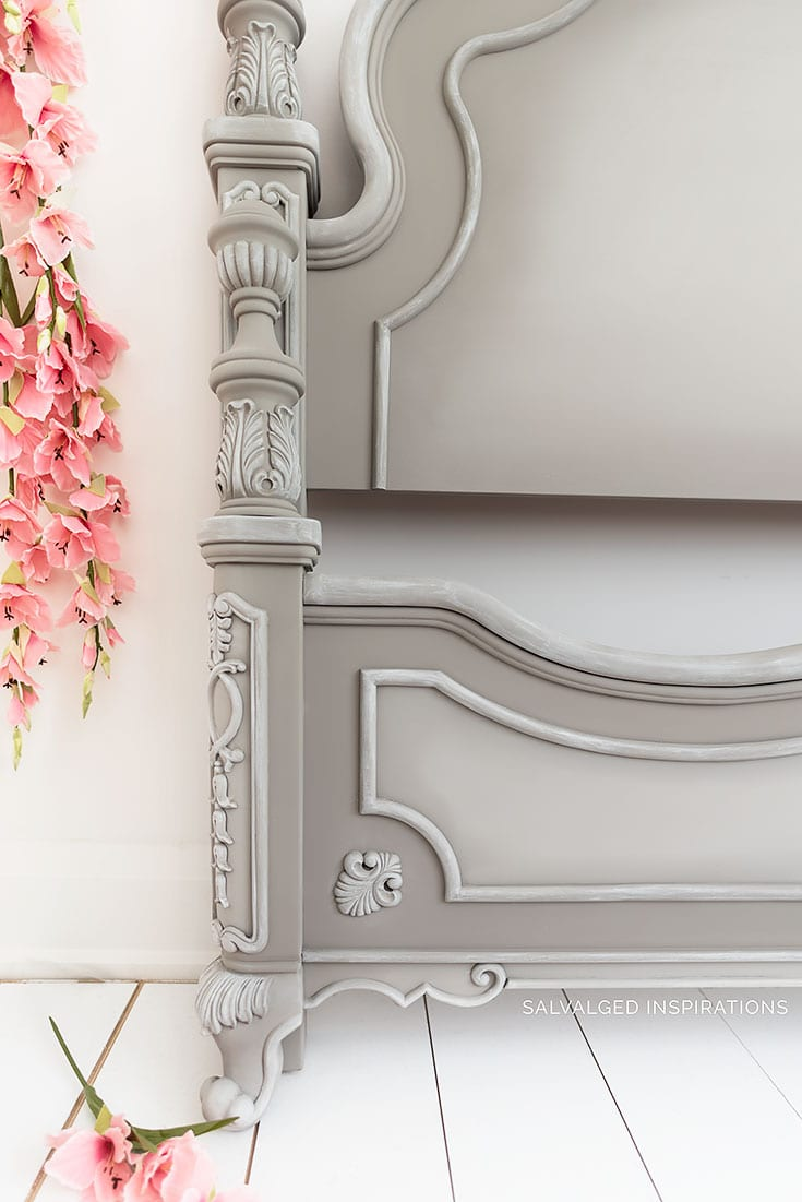 Details on French Linen Painted Headboard