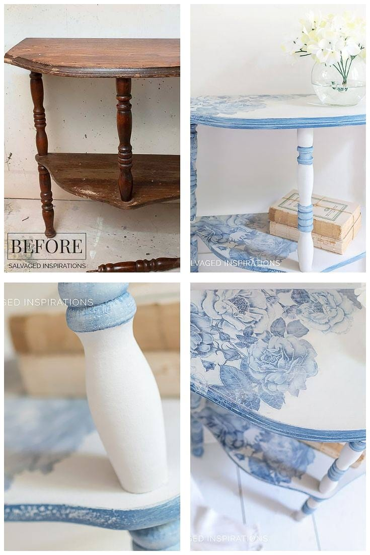 French Ceramics CurbShopped Side Table Makeover