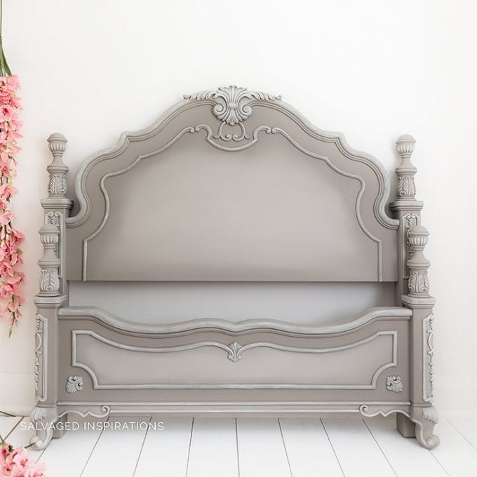 French Linen Painted Headboard by Salvaged Inspirations