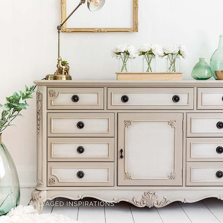 How To Blend Paint On Painted Dresser Makeover