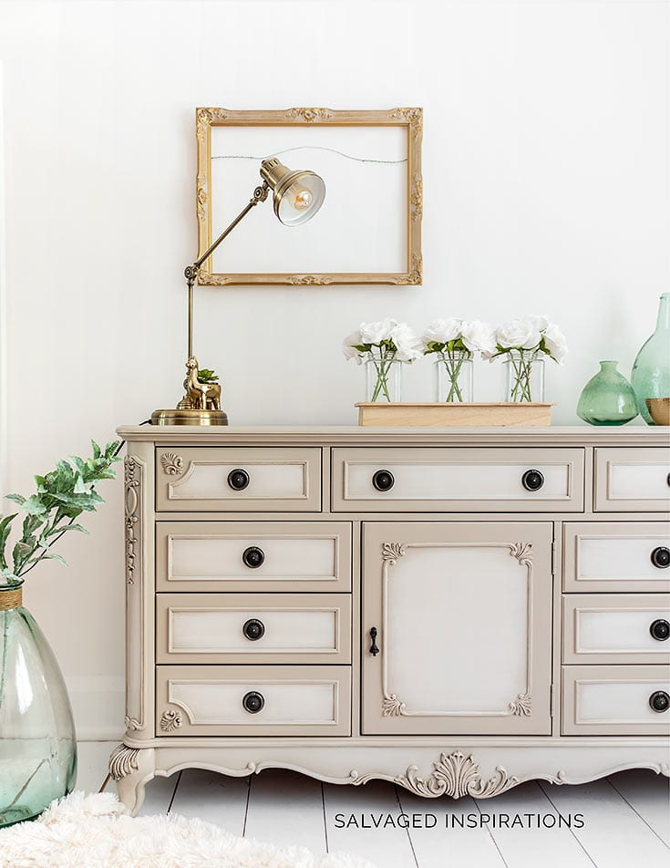 How To Blend Paint On Painted Furniture - Dresser Makeover