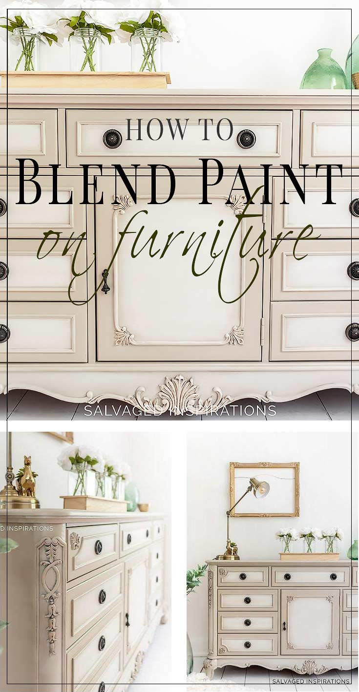 How To Blend Paint on Furniture - Dresser Makeover1