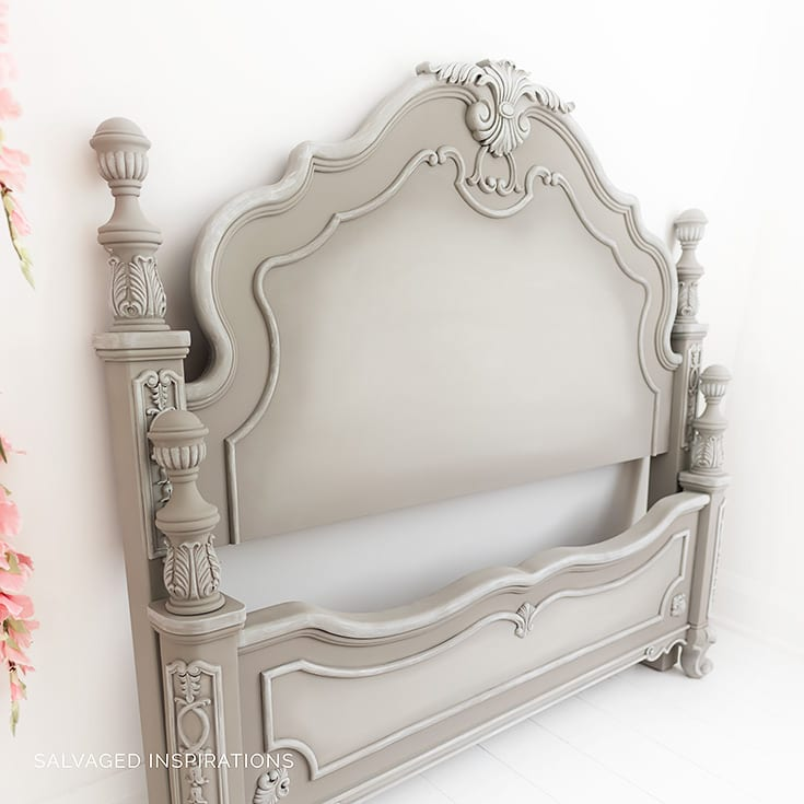 Side View of French Linen Painted Headboard