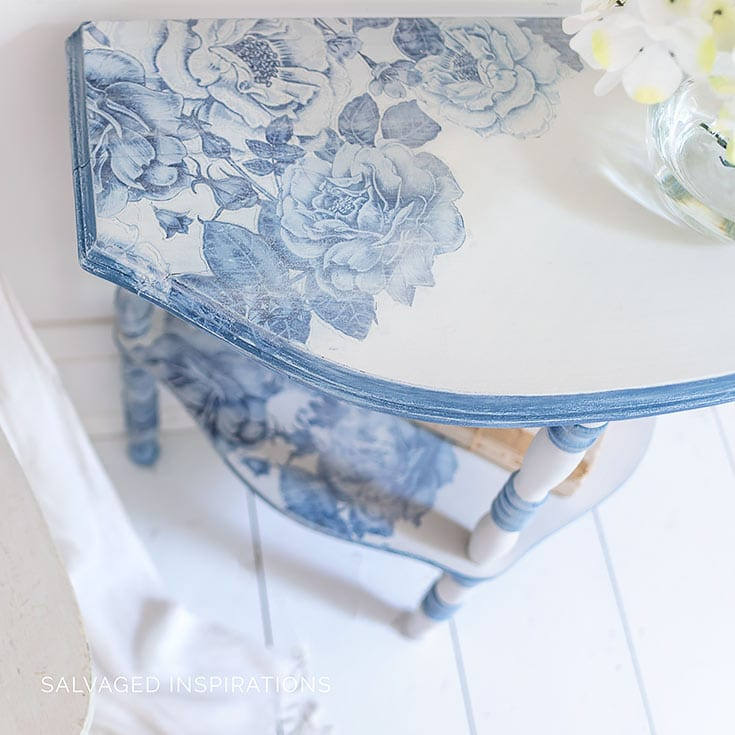 Top of French Ceramics Painted Side Table