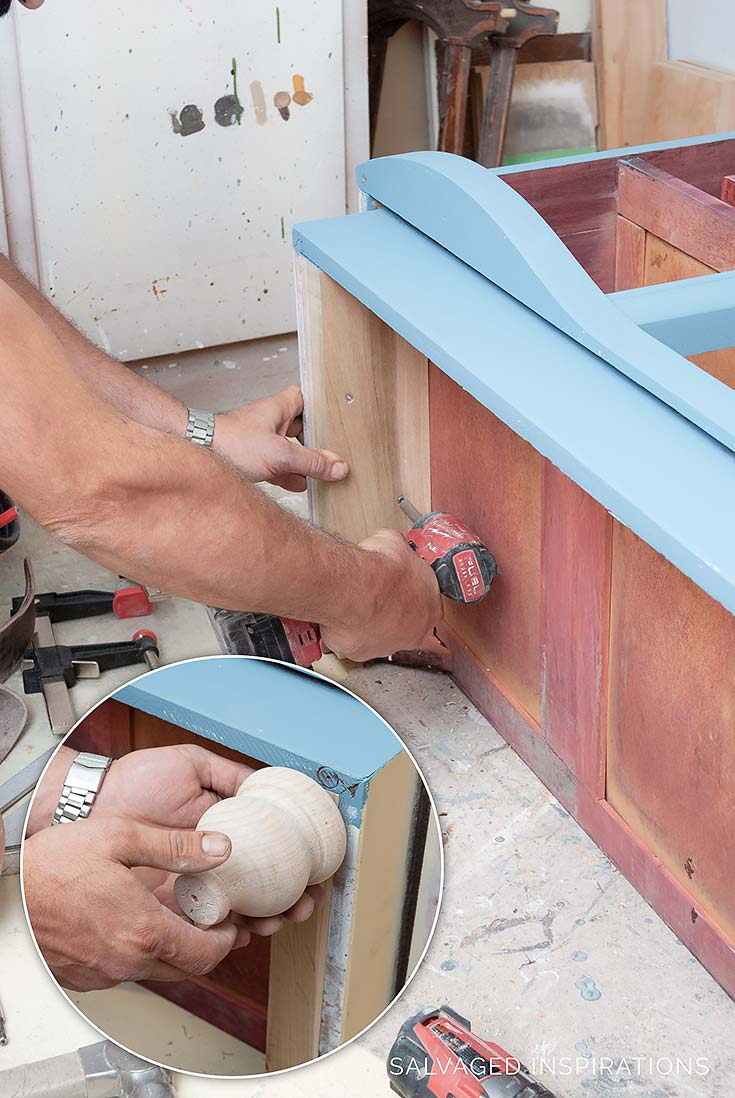 Adding Furniture Legs Onto A Painted Dresser