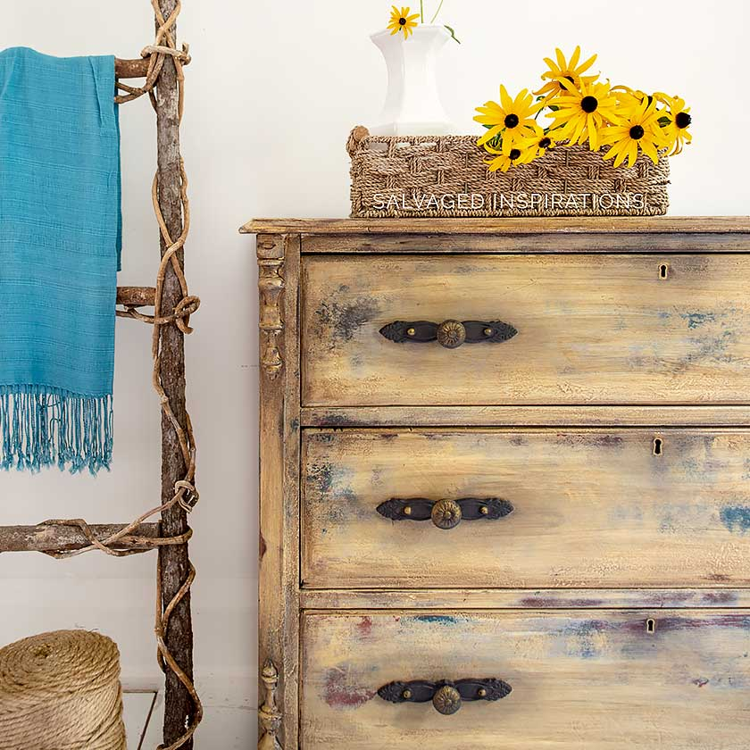 Antique Dresser Makeover w Refreshed Drawers IG