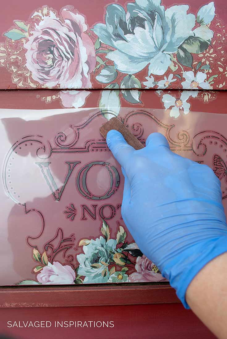 Applying Fuchsia Sunset Furniture Transfer