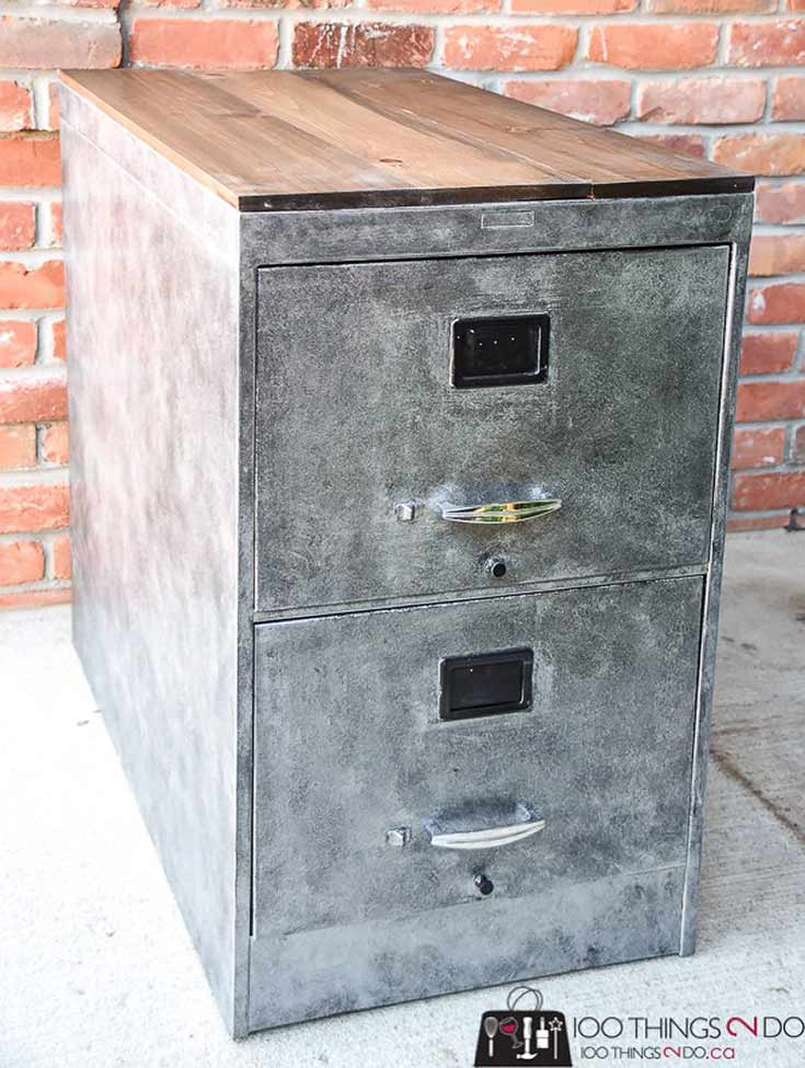 Faux-zinc-filing-cabinet 100 Things 2 Do