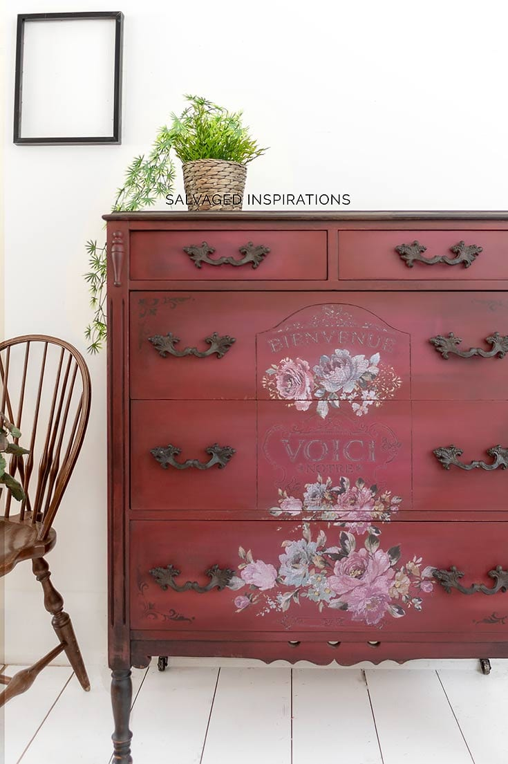 Fuchsia Sunset Painted Dresser by Salvaged Inspirations