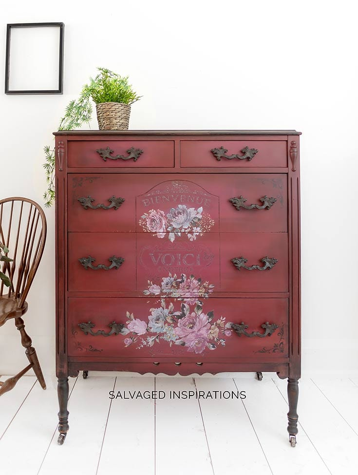Fuchsia Sunset Painted Dresser