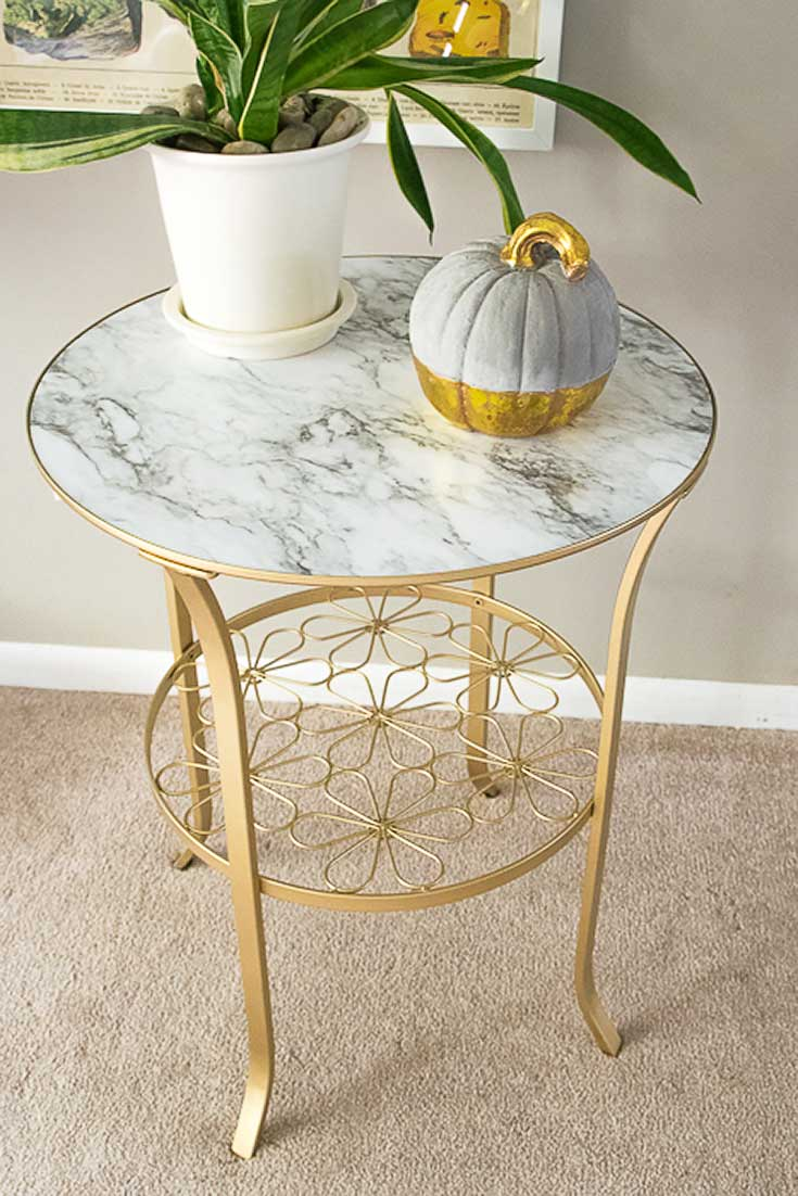 Ikea-hack-gold-and-marble-table The Witty Gritty Life