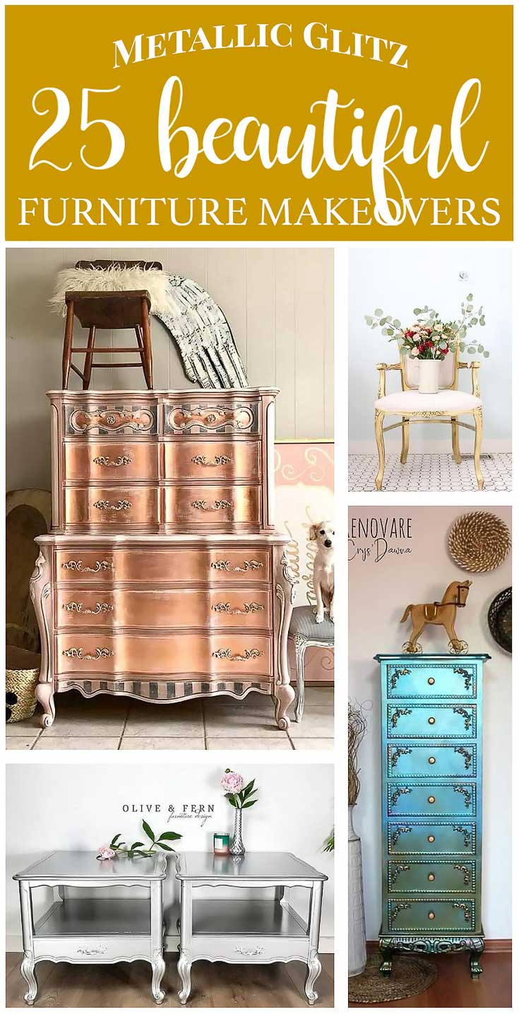Metallic Giltz - 25 Metallic Painted Furniture Ideas