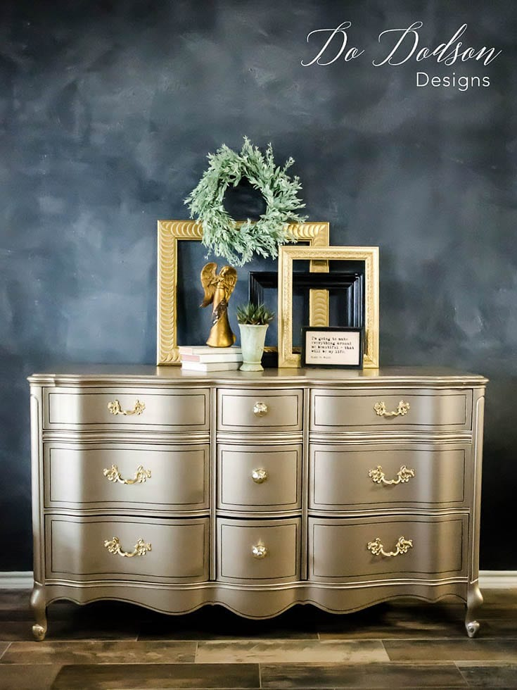 Metallic-paint-for-furniture- Do Dodson Designs