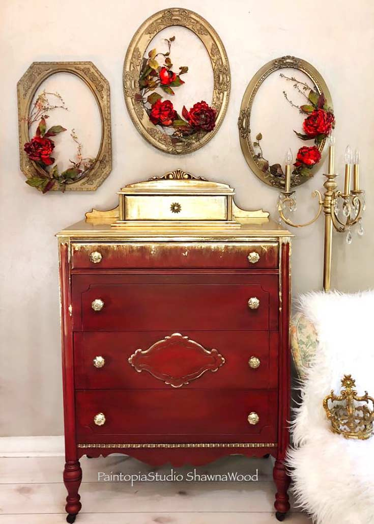 Paintopia Studio Shawna Wood Metallic Dresser