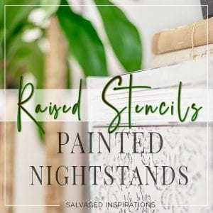 Raised Stencils on Painted Nightstands TXT