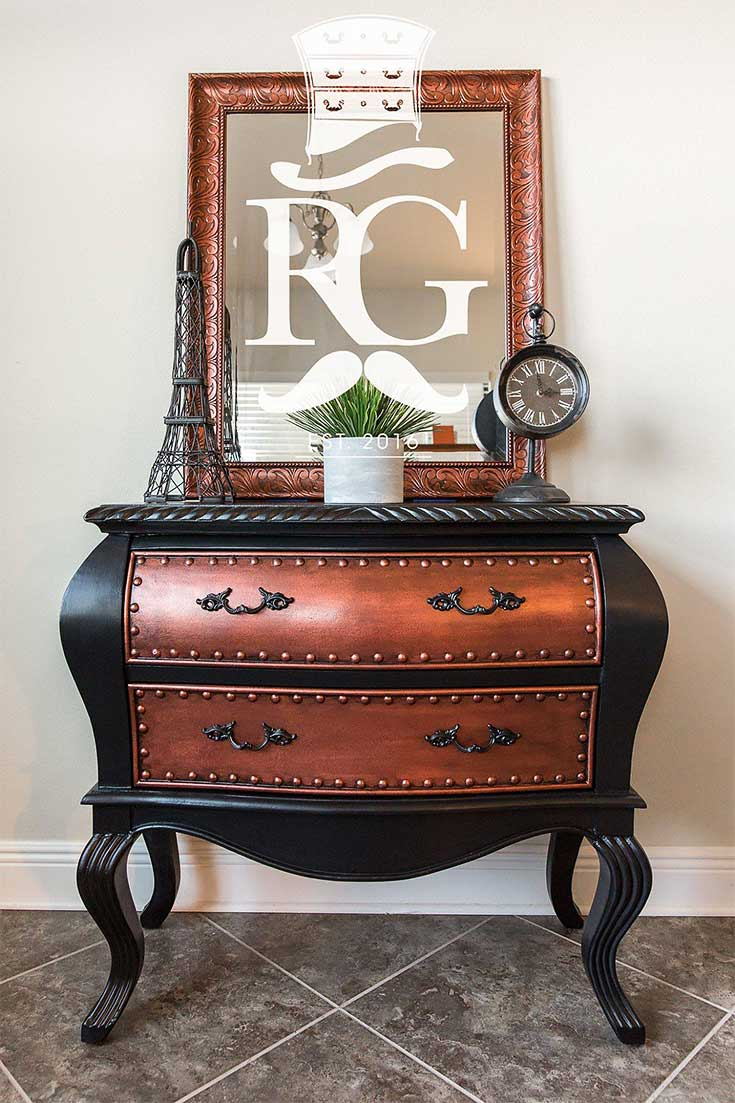 Refurbished Gentleman Copper Metallic Furniture