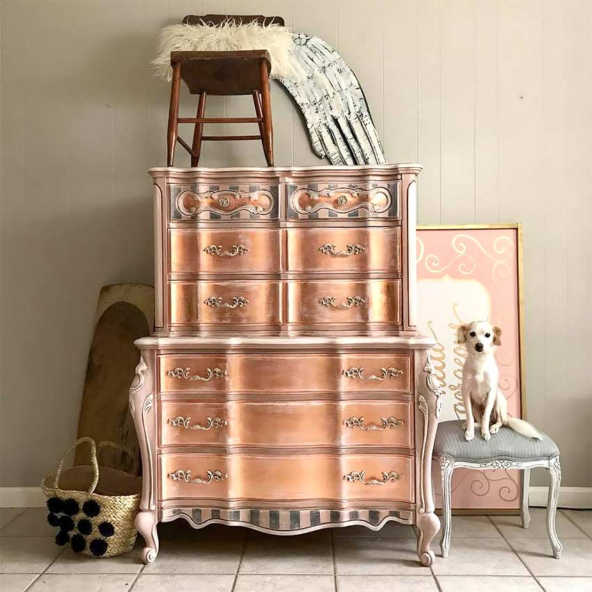 Traceys Fancy Rose Gold Dressers