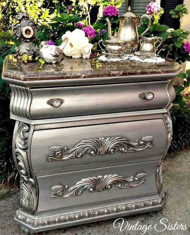 Vintage Sisters 2 Metallic Painted Furniture