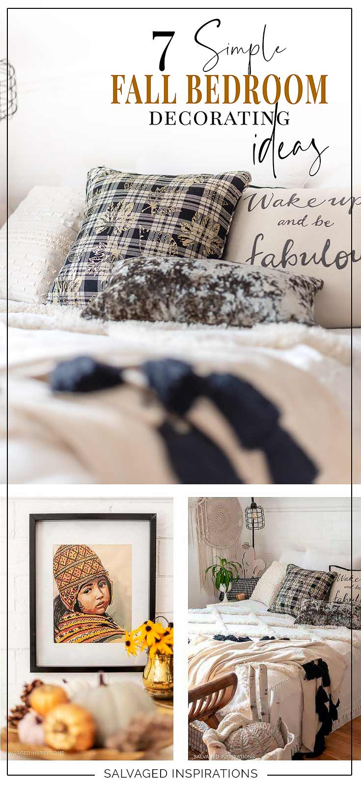 7 Simple Fall Bedrom Decor Ideas Collage Salvaged INspirations