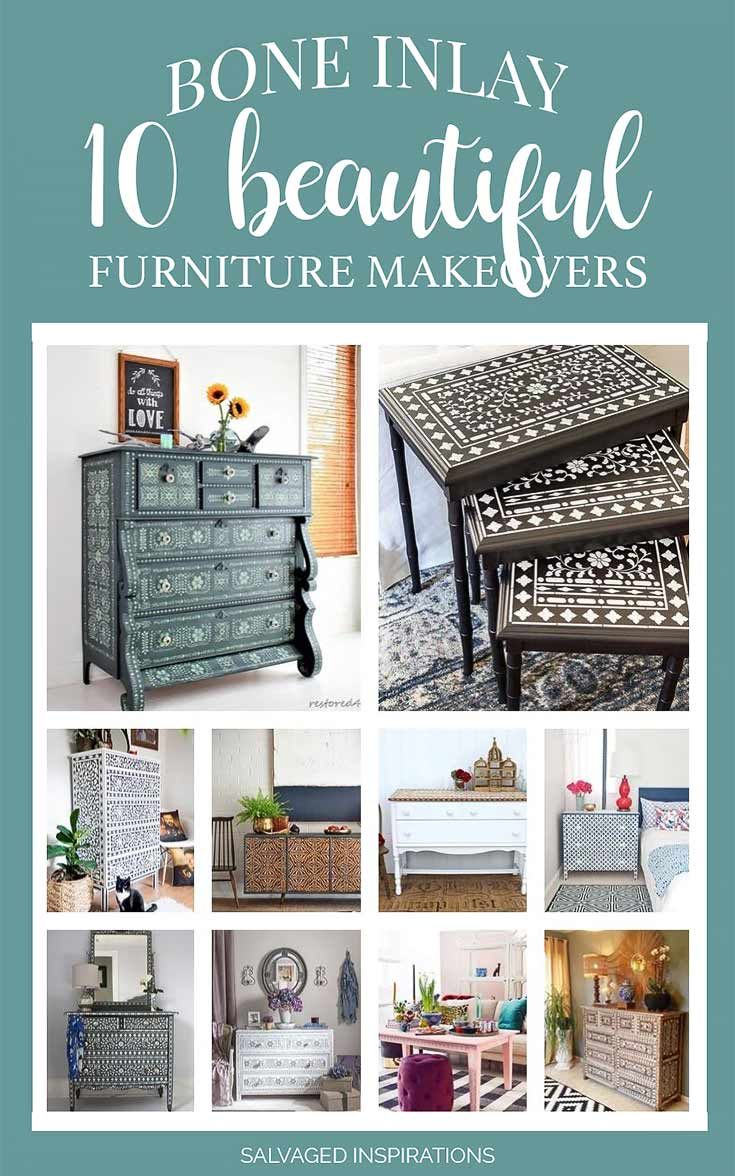 Bone Inlay Painted Furniture _ 10 Beautiful Makeovers