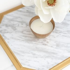 Close Up of Faux Marble Table Top IG