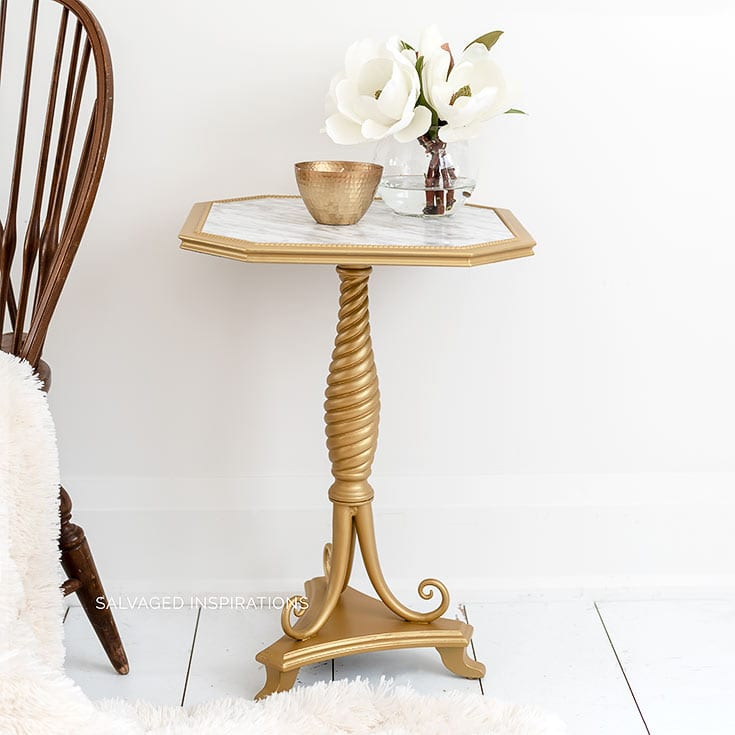 DIY Marble Table IG- Salvaged Inspirations