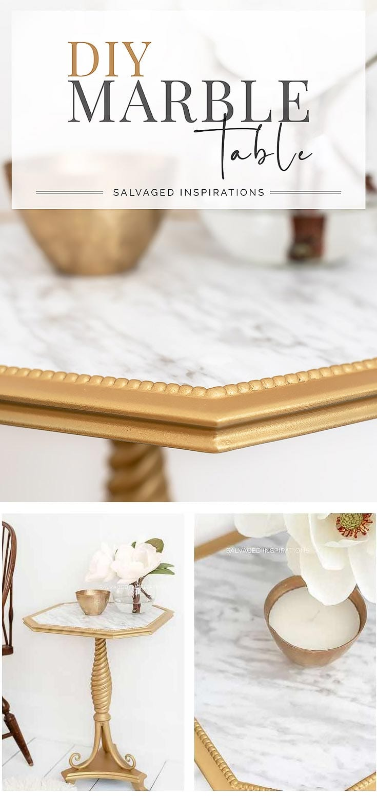 DIY Marble Table Tutorial by Salvaged Inspirations