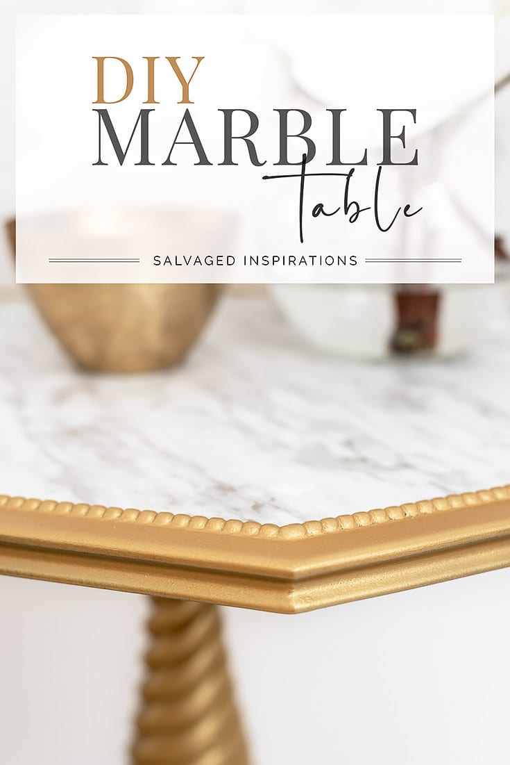 DIY Marble Table by Salvaged Inspirations