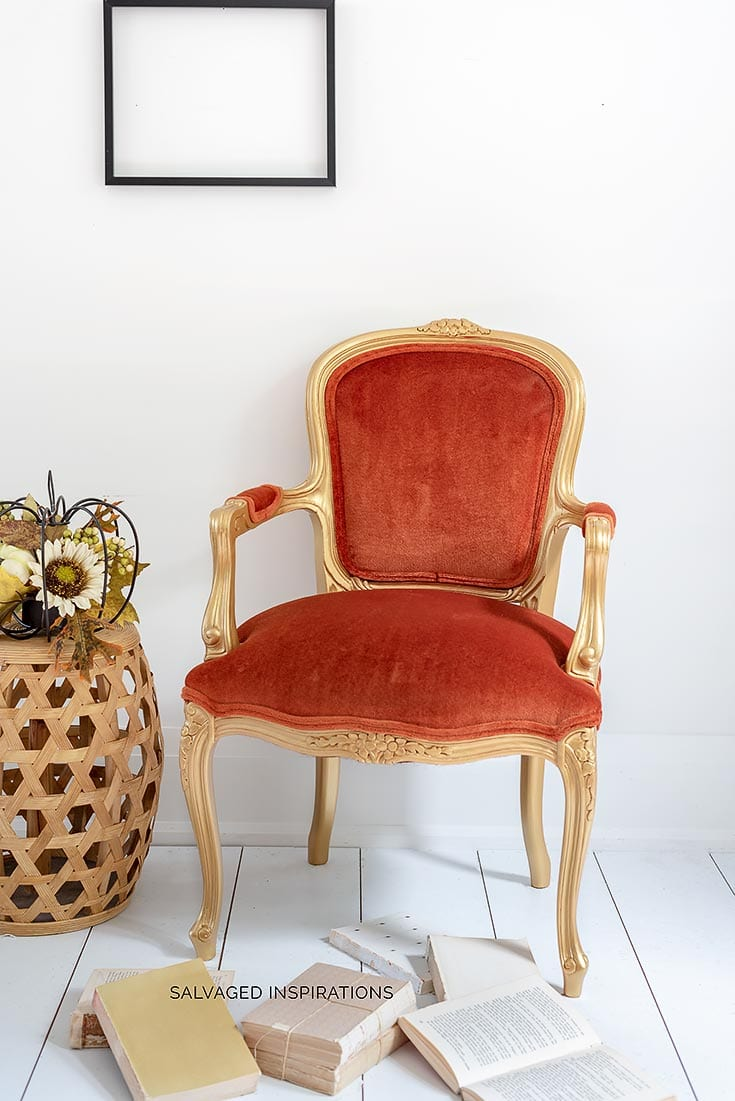 Gold Velvet Accent Chair Makeover