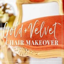 Gold + Velvet Chair Makeover